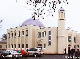 An outside few of the Ahmadi Mosque in Berlin