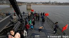 China-Nordkorea Grenze bei Dandong
