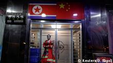 China-Nordkorea Grenze bei Dandong
