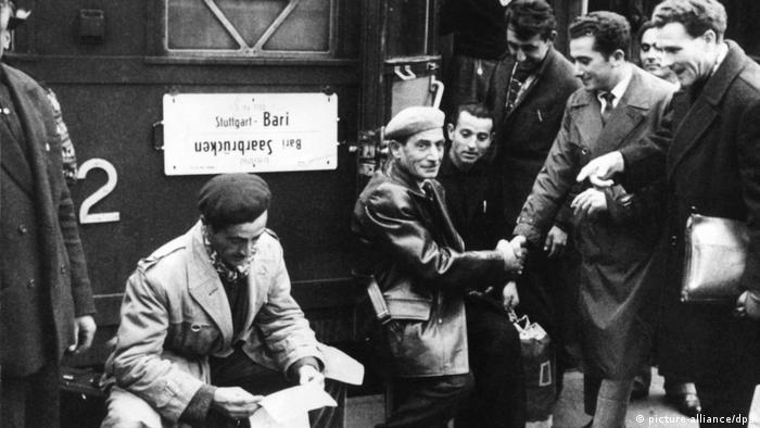 Stuttgart 1970 - Sonderzug für Gastarbeiter