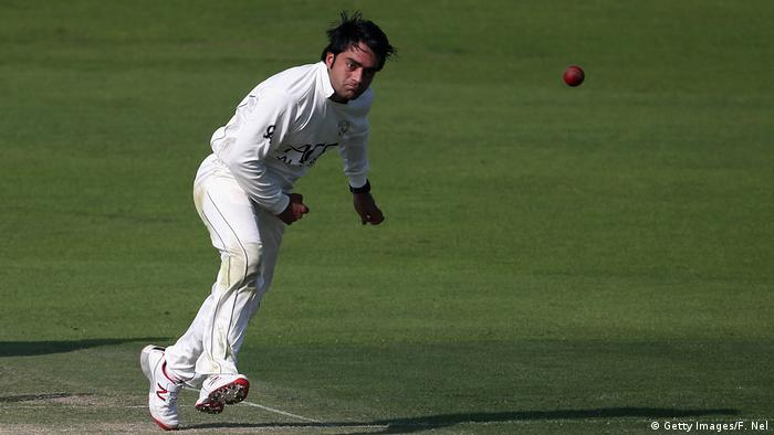 Afghanistan Rashid Khan Cricketer England Lions vs Afghanistan (Getty Images/F. Nel)
