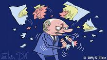 DW-Karikatur von Sergey Elkin - Putin, Trump