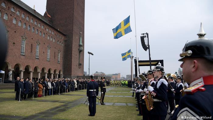 Stockholm'de saldırı kurbanları anıldı