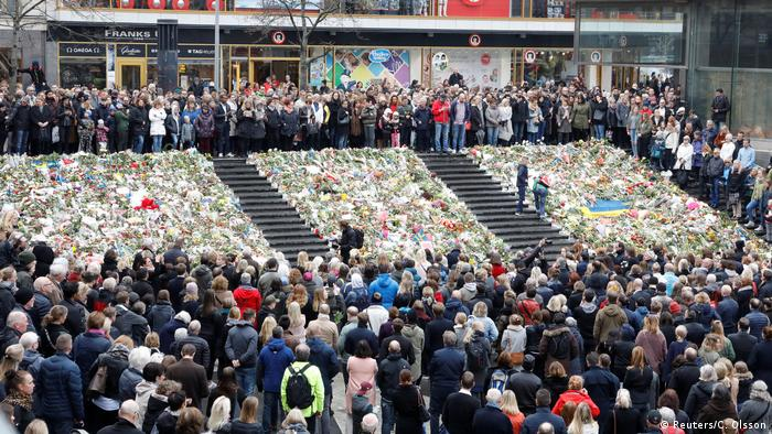 Schweden Schweigeminute in Stockholm
