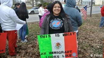 Die illegale Migrantin Esme Colin Gomez