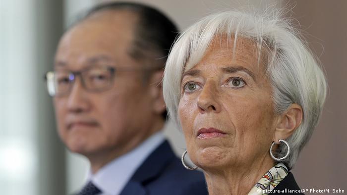 Deutschland Präsident der Weltbank Jim Yong Kim und IWF-Chefin Christine Lagarde in Berlin