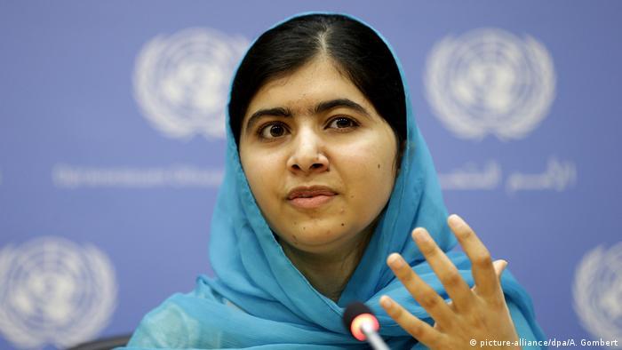 Malala Yousafzai wird UN-Friedensbotschafterin (picture-alliance/dpa/A. Gombert)