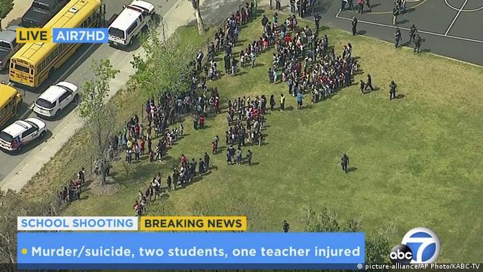 USA Schießerei in Grundschule von San Bernardino (picture-alliance/AP Photo/KABC-TV)