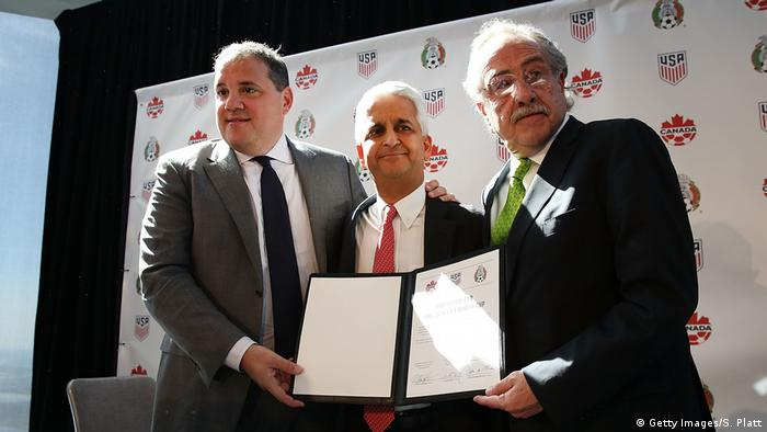 Fußball CONCACAF Vorsitzender PK WM 2016 (Getty Images/S. Platt)