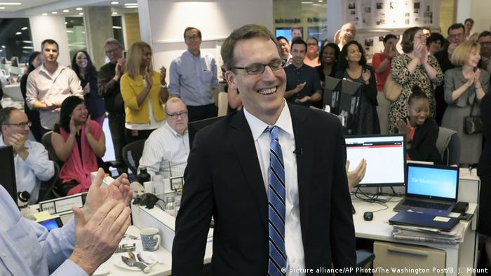 USA Bekanntgabe Pulitzer-Preisträger David Fahrenthold (picture alliance/AP Photo/The Washington Post/B. J. Mount)