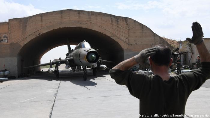 Syrien Luftwaffenstützpunkt Al-Schairat in Hama