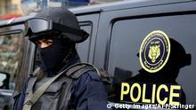 Ägypten Polizei in Kairo
