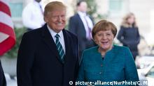 USA Donald Trump und Angela Merkel