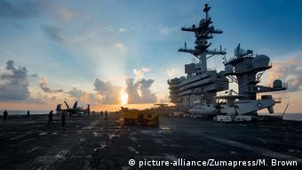 El portaaviones estadounidense Carl Vinson.