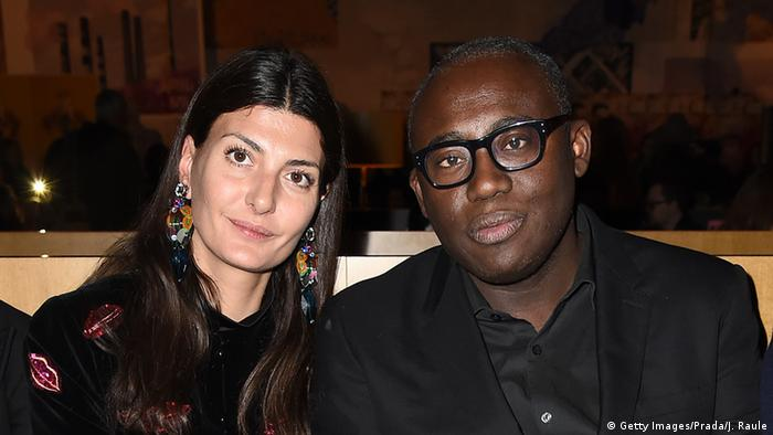 Edward Enninful mit Stylistin Giovanna Battaglia (Getty Images/Prada/J. Raule)
