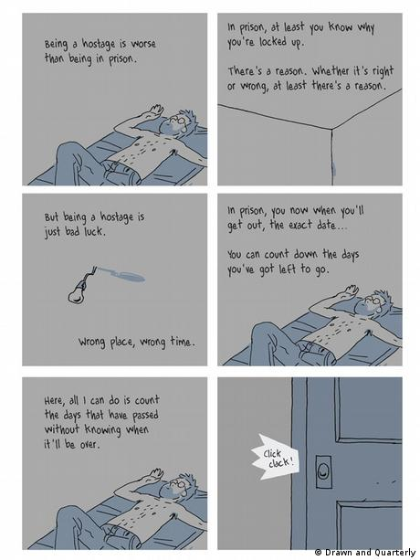 From the comic book Hostage by Guy Delisle (Drawn and Quarterly)