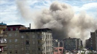 Στιγμιότυπο από έκρηξη στο Ντιγιάρμπακιρ
