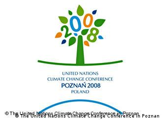 The logo of the Poznan climate conference