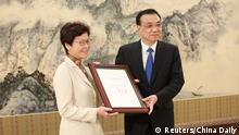 China Li Keqiang und Carrie Lam