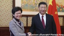 China Carrie Lam und Xi Jinping