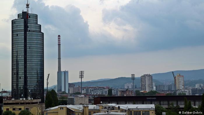 Agrokor's HQ in Zagreb dominates the skyline.