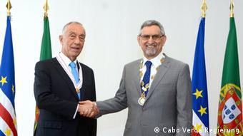 Präsidenten Marcelo Rebelo de Sousa Jorge Carlos Fonseca