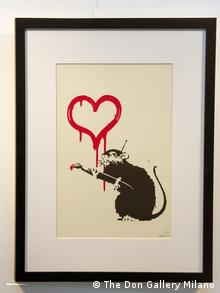 Straßenkunst Banksy - Love Rat Print (The Don Gallery Milano)
