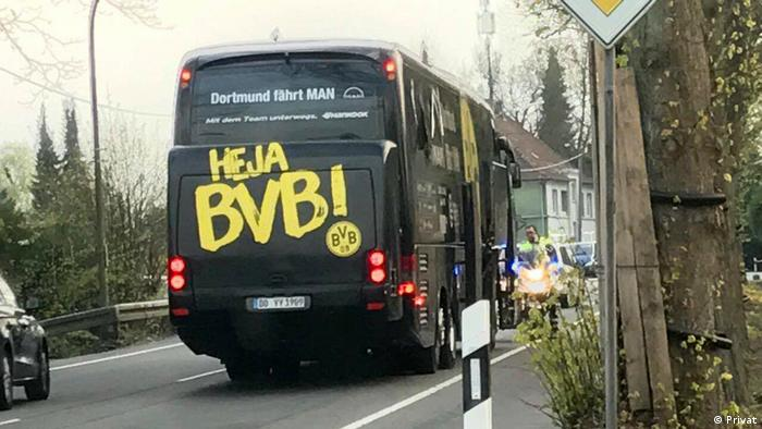 Explosion am BVB Bus (Privat)