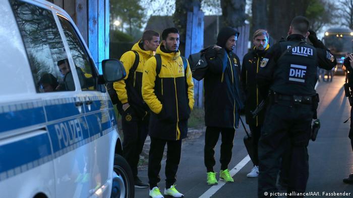 Футболисты Боруссии 11 апреля после неудавшегося покушения