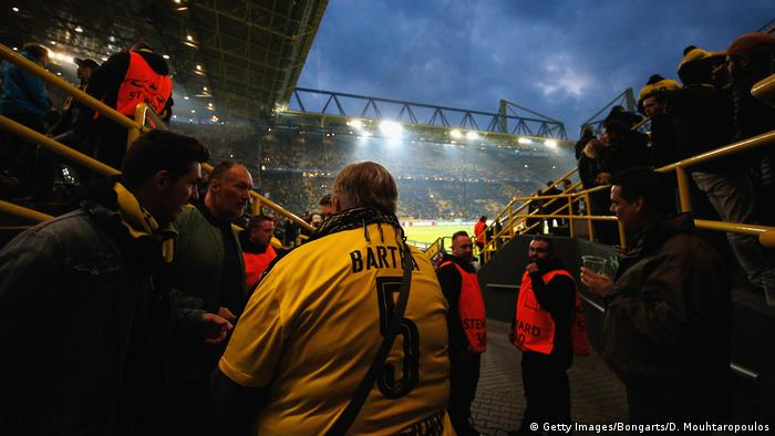 UEFA Champions League Borussia Dortmund v AS Monaco Fans (Getty Images/Bongarts/D. Mouhtaropoulos)