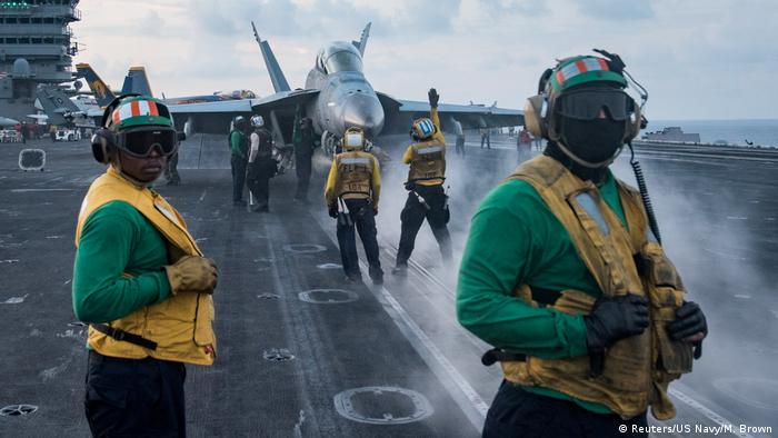 USS Carl Vinson aircraft carrier in the South China Sea