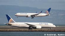 United Airlines 787 und United Airlines 767 Passagierflugzeug