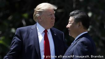 USA Donald Trump und Xi Jinping (picture alliance/AP Images/A. Brandon)
