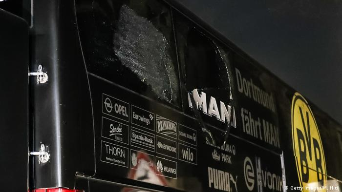 Dortmund - Explosionen an BVB-Bus (Getty Images/M. Hitij)