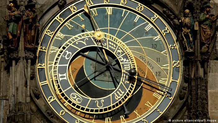 Prague's famous astronomical clock stops