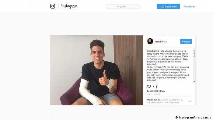 Screenshot Instagram Marc Bartra 12.4.2017 (Instagram/marcbartra)