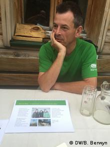 Siegfried Ellmauer talks about climate change and mountain agriculture at the Berghof Thurnergut near Spittal am Pyrn