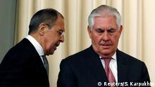 Russland Rex Tillerson bei Sergey Lavrov