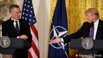 U.S. Präsident Trump und NATO-Generalsekretär bei der Pressekonferenz am Weißen Haus
