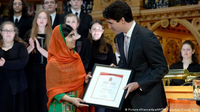 Malala Yousafzai zur kanadischen Ehrenbürgerin ernannt