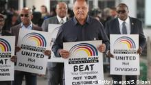 USA United Airlines Protest