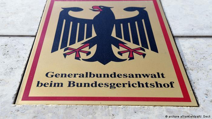 Deutschland Schild Bundesanwaltschaft (picture alliance/dpa/U. Deck)