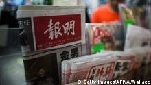 Hongkong China Zeitungskiosk Zeitungen (Getty Images/AFP/A.Wallace)
