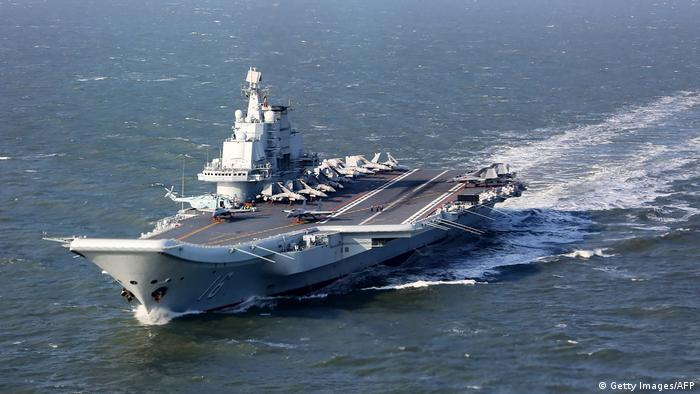 China's aircraft carrier Liaoning sailing in the Pacific
