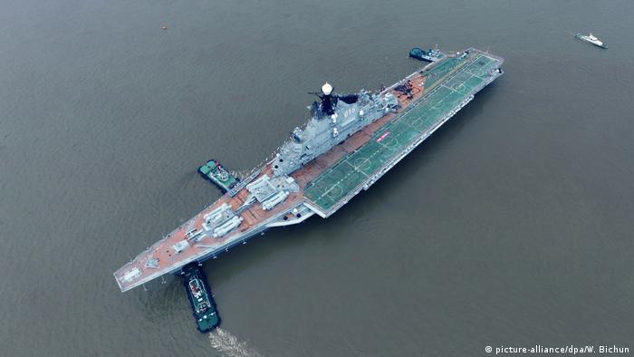 China Marine Flugzeugträger Minsk (picture-alliance/dpa/W. Bichun)