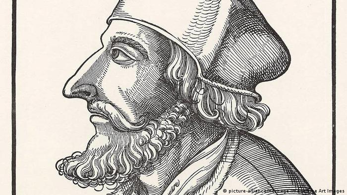 Jan Hus em retrato de Erhard Schoen