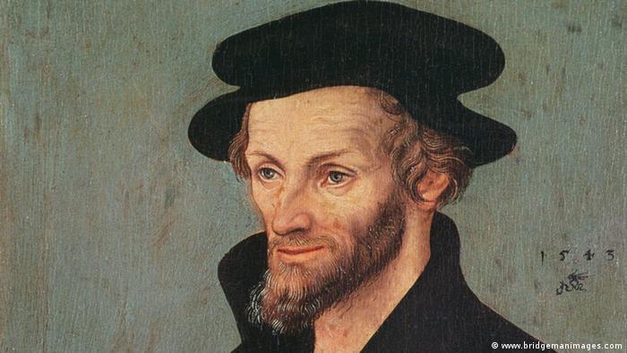 Philipp Melanchthon retratado por Lucas Cranach