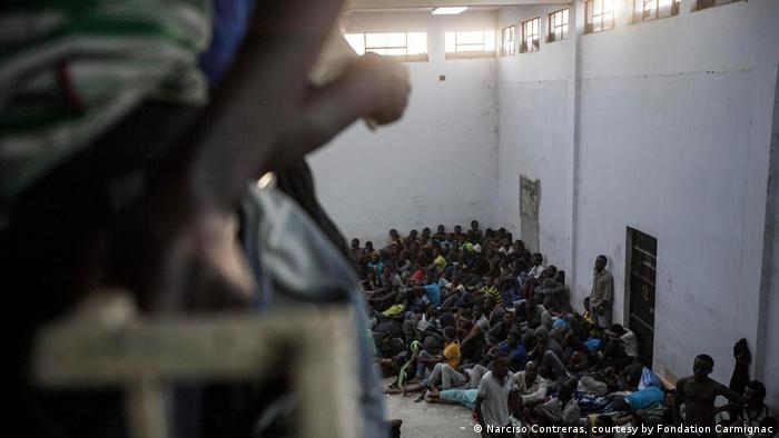 Sklavenhandel mit Migranten in Libyen (Narciso Contreras, courtesy by Fondation Carmignac)