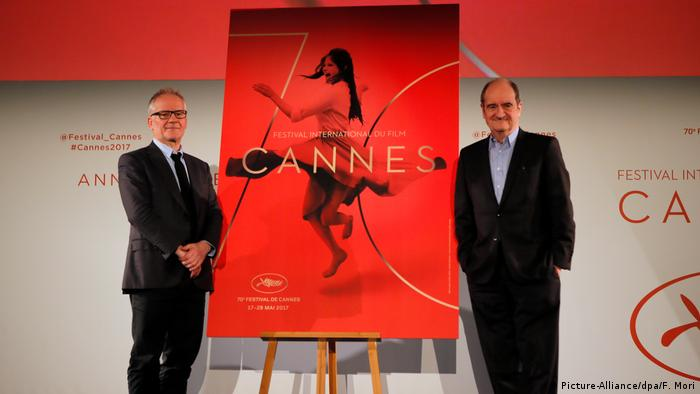 Cannes Film Festival director Thierry Fremaux (l) and festival president Pierre Lescure (Picture-Alliance/dpa/F. Mori)