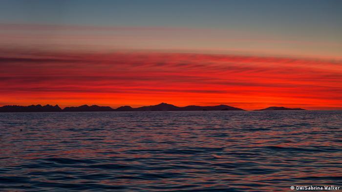 Antarctic Biennale 2017 | Roter Himmel (DW/Sabrina Walker)